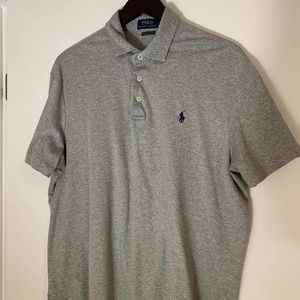 Polo Ralph Lauren Gray Classic-Fit Soft-Touch Polo